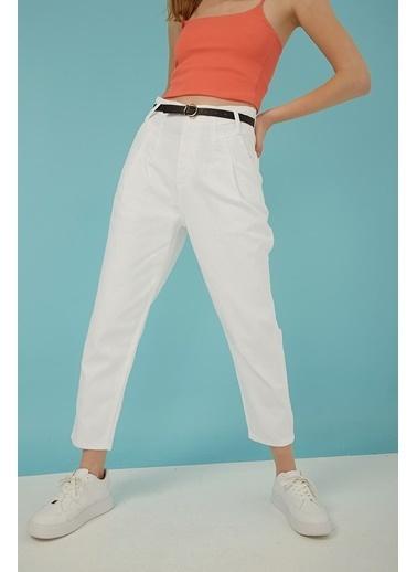 Modaset Jean Pantolon Beyaz